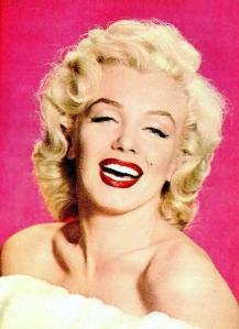 A headshot of Marilyn Monroe.