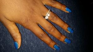 Hand with British Love Nail Polish
